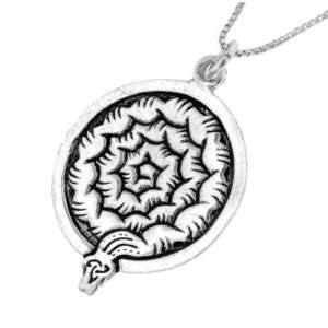 October Sterling Silver Celtic Birth Charm Pendant for October