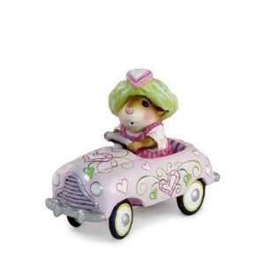 Wee Forest Folk Valentine Petal Pusher Mouse Car