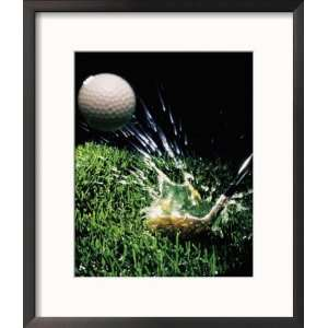 Golf Club Hitting Ball Collections Framed Photographic