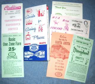 Mta Los Angeles Map.Vintage Los Angeles Maps Mta Route 1960 Los Angeles Guide Transit