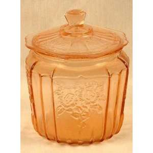 Pink Mayfair Glass Cookie Jar  Home & Kitchen