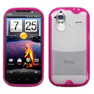 For T Mobile HTC 4G Amaze Clear Hot Pink Accessory Skin Soft Case