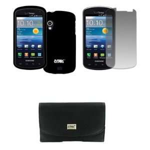 EMPIRE Samsung Stratosphere Black Leather Case Pouch with