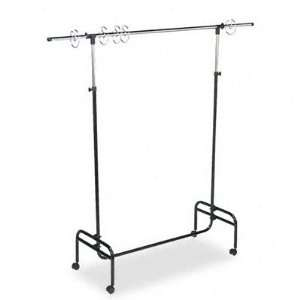 Mobile Chart Stand, 48 to 75 High, Steel, Black