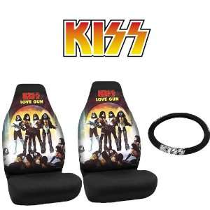 KISS Rock n Ride Car Truck SUV Universal Fit Bucket Seat Covers Pair