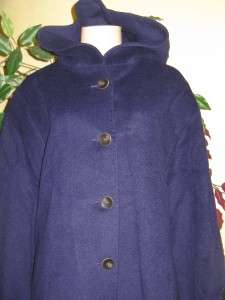 Jones New York womens winter Angora Wool blend coat purple jacket
