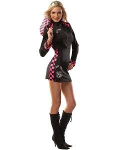 Womens halloween costume 2 pc race car driver dress cropped jacket