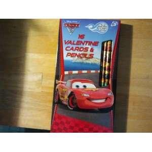 Disney / Pixar Cars 16 Valentine Cards With 16 #2 Pencils