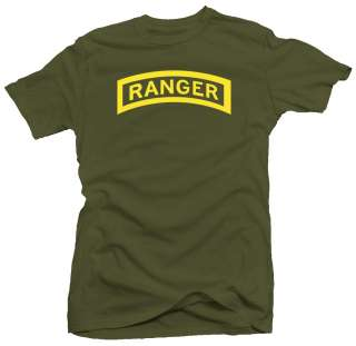 Ranger ylw US Army Military Forces New Airborne T shirt