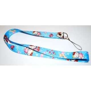 Hello Kitty Lanyard Key Chain Holder Blue Star