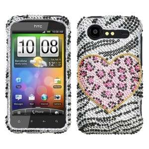 Playful Leopard Bling Case Cover HTC Droid Incredible 2