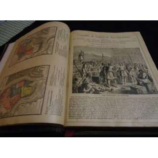 Antique Holy Bible Pictorial Family Bible KJV Red Letter