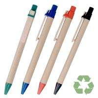 12 Eco Friendly Recycled Paper Pens   THINK GREEN
