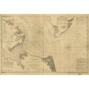 : 1863 Civil War map: Nautical charts Chesapeake Bay: Home & Kitchen