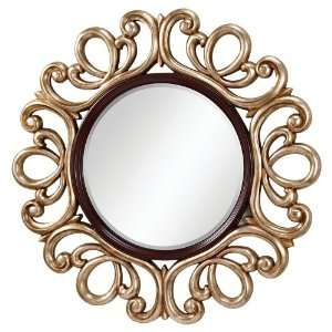 MR1132MHG/ASL Mahogany /Antique Silver Mirror Courtney