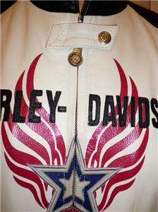 Harley Davidson Leather Jacket Rapid City Red White X