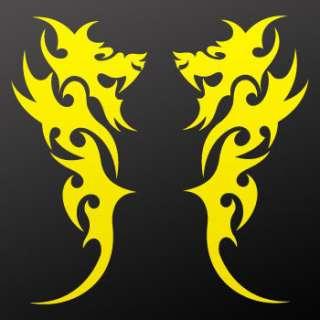 Tribal tattoo design Decal Sticker Dragon Art WRSRS