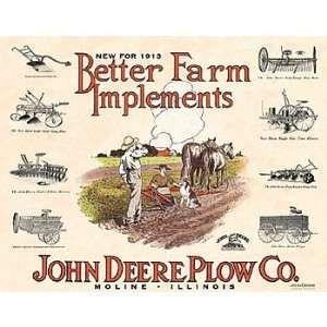 John Deere Farm Implements Tin Sign: Automotive