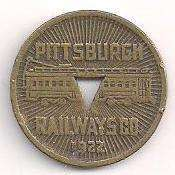 1922 Pittsburg Railways Co. Good For One Fare Token