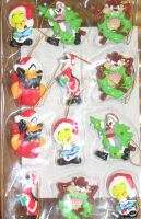 NIB   Looney Tunes Xmas Mini Ornaments/Package Tie Ons