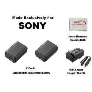 2 Pack Extended Life Replacement Battery Pack For Sony NP