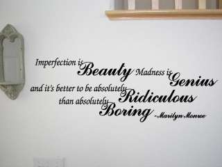 Beauty Marilyn Monroe Wall Quote Decal Home Decor GIFT IDEA NEW