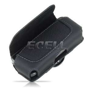 Ecell   BLACK LEATHER CASE POUCH & BELT CLIP FOR LG TOWN