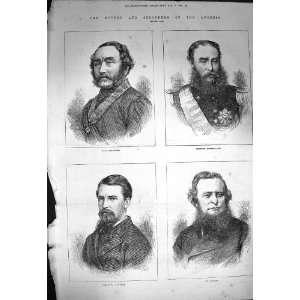 1872 Earl Delawarr Powerscourt Mr Colman Strutt Men