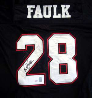 MARSHALL FAULK AUTOGRAPHED SIGNED SAN DIEGO STATE BLACK JERSEY PSA/DNA