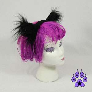 Cosplay CAT RAVE cYbEr Goth Kitty Anime Hat EARS Neko