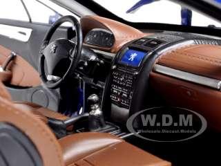 2005 PEUGEOT 407 COUPE BLUE 1/18 DIECAST MODEL CAR