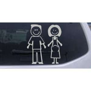 com Silver 8in X 7.5in    Expecting Family Stick Family Stick Family