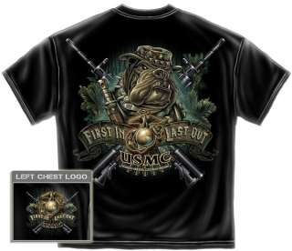 Jungle USMC Devil Dogs T Shirt combat army military tee marine corps