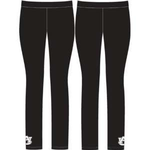 Auburn University Tigers Womens Black Leggings Pants