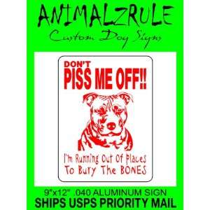 PITBULL DOG SIGN 9x12 ALUMINUM Everything Else
