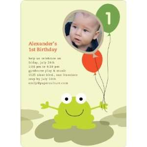 Frankie the Funky Frog Birthday Invitations: Health