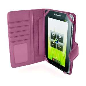 MiTAB Pink Leather Flip Open 7 Inch Book Style Carry Case