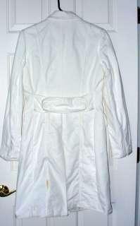 BANANA REPUBLIC White Trim Cotton Lady Day Coat S $175