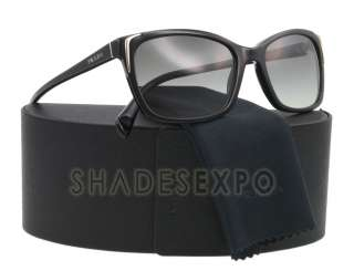 NEW Prada Sunglasses SPR 02O BLACK 1AB 3M1 SPR02O AUTH