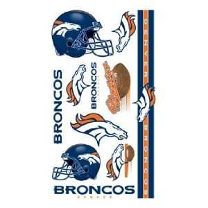 Denver Broncos NFL Football Team Temporary Tattoos Sports