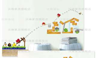 WS048 Kids room wall decor Angry Birds Wall Sticker