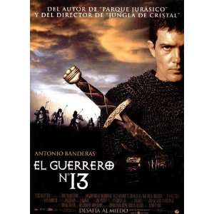 The 13th Warrior Poster Spanish 27x40 Antonio Banderas