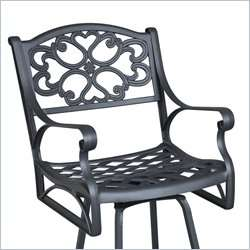 Home Styles Biscayne Swivel Black Finish Outdoor Bar Stool