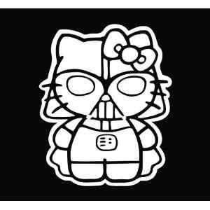 Hello Kitty Darth Vader Star Wars Vinyl Die Cut Decal Sticker 6.5