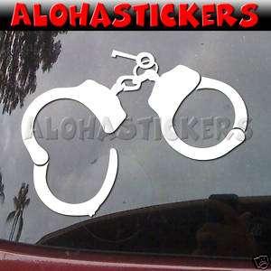 HANDCUFFS Vinyl Decal Car Truck Van Police Sticker M225