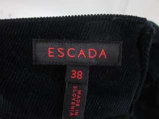 ESCADA Navy Blue Corduroy Pants Slacks Trousers Sz 38