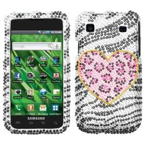 Playful Leopard Crystal BLING Case Cover for Samsung Galaxy S 4G