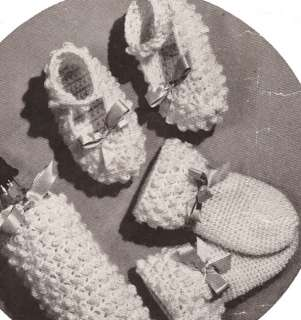 Vintage Baby Mary Janes Booties Shoes crochet pattern