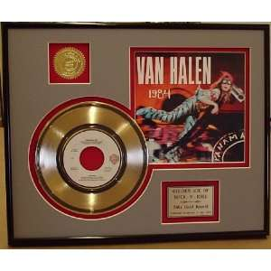 Van Halen Panama Gold Record Limited Edition Collectible