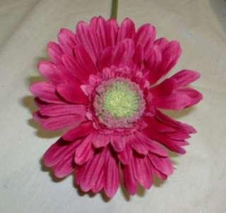 Hot Pink Fuschia Silk Gerbera Daisy Flowers 1935